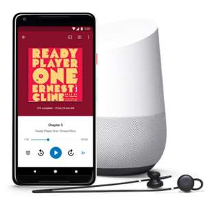 50% off your first Google Play Audiobook