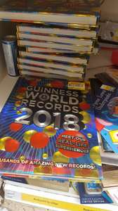 Guinness World Records 2018 Book 62p Tesco Manchester Arndale