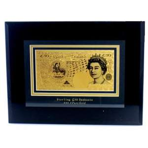 Why buy roses when you can buy gold? Gold £50 Banknote £20 + £2.95 P&P @ Internet Gift Store