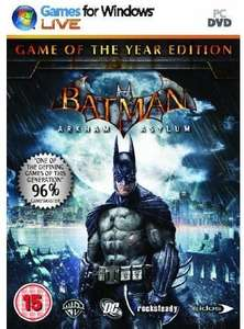 Batman : Arkham Asylum - Game Of The Year Edition (PC) only £2.99 or £2.84 (with 5% discount)