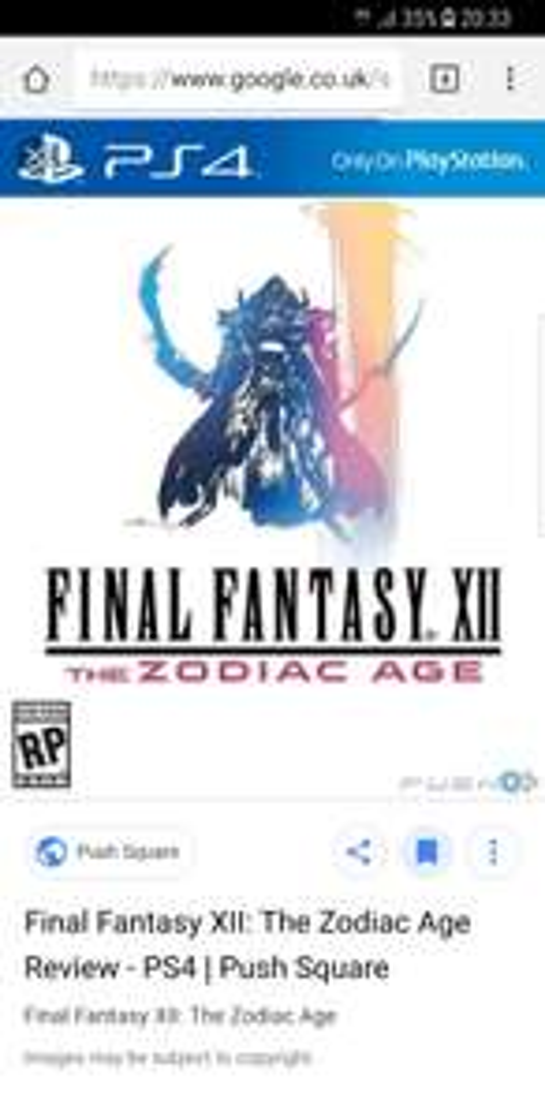 Final fantasy 12 PS4 £15 instore @ ASDA