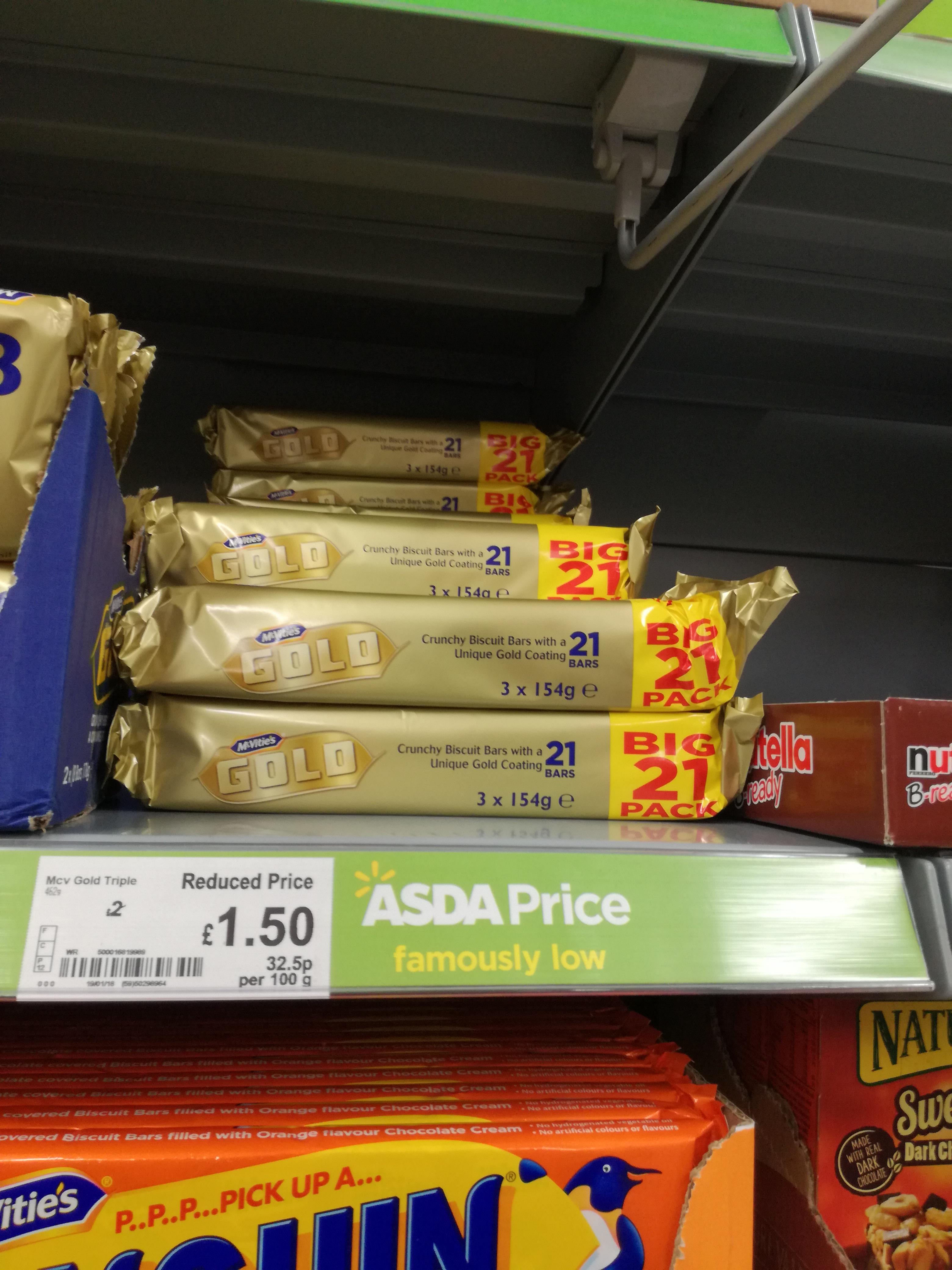 Gold Bars 21 pack £1.50 Asda