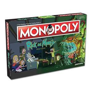 Rick and Morty monopoly 12.99 at totally funky rrp 29.99 (£4.99 del or free over £30)