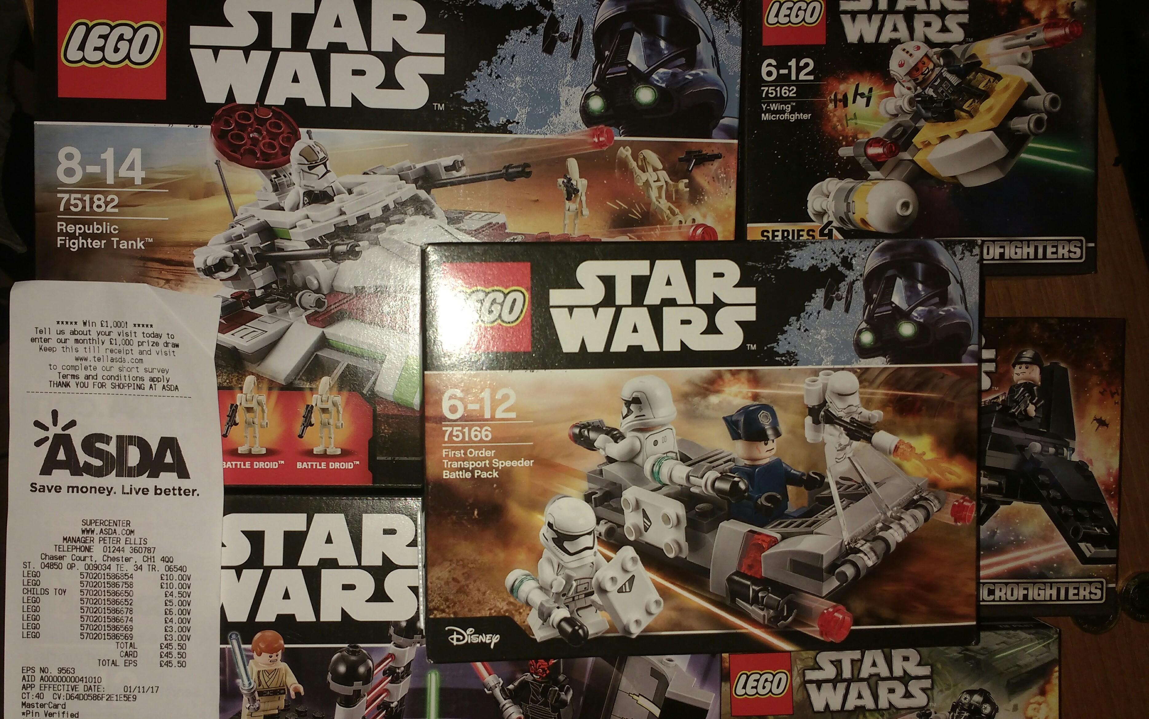 Lego Star Wars sets reduced Asda Chester