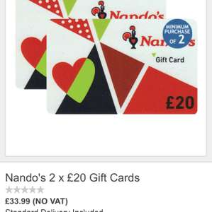 Nandos/Vue gift card for worth £80 for £67.98 @ Costco Online