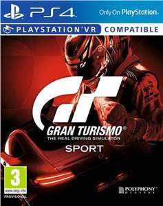 Gran Turismo: Sport PS4 Game Only £15.99 Studentcomputers.co.uk