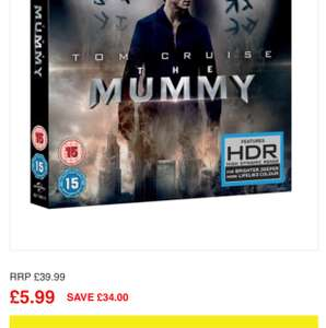 The Mummy (2017) 4K Ultra HD UHD including Blu-Ray and digital download £5.39 @ Zoom