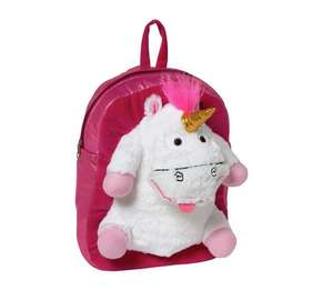 Minions Fluffy Unicorn Plush Backpack £9.99 @ argos.