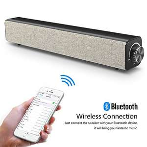 Cheap 20W portable bluetooth Speaker soundbar style for £22.99 @ Sold by Besrin and Fulfilled by Amazon
