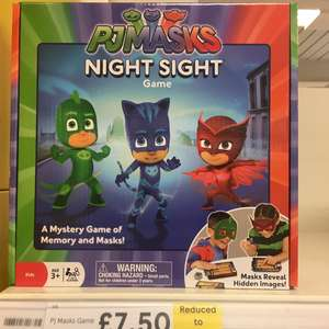 Pj mask night sight game £7.50 Tesco instore