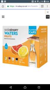 Soda stream 4 fruit caps £1.79 with  free delivery from argos @ eBay