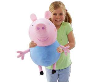 Peppa Pig Giant Talking George Soft Toy (46cm x 66cm) now £9.99 C+C @ Argos