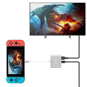 usb c portable switch dock, s8/note8 dex dock and pc/mac dock £21.99 Sold by TUTUO and Fulfilled by Amazon.