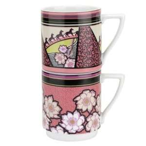 Ted baker portmeirion art deco style 2 stacking mugs £17.99( ted baker sale items from £7.99) @ internet gift store,free del