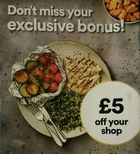 £5 off your shop for Iceland Bonus card members