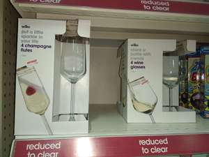 4 x Champagne Flutes / Wine glasses - was £5 now 10p @ Wilko