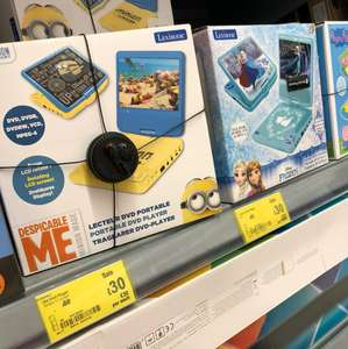 Minions 7 inch DVD player £30 Asda instore - Glasgow Hoban