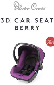 Silver Cross 3D Baby Car Seat - Berry Colour - £50 (Was £135) + Free Delivery