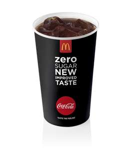 BACK AGAIN! Free medium Coke Zero with McDonald's app
