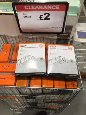 87% off Vax Vacuum bags & filters reduced to £2 @ B&Q - Southend