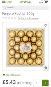 Ferrero Rochers very good price!! £5.43 @ Waitrose