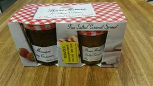 Bon Maman strawberry conserve and salted caramel reduced to clear 50p At MORRISONS Granton Edinburgh.