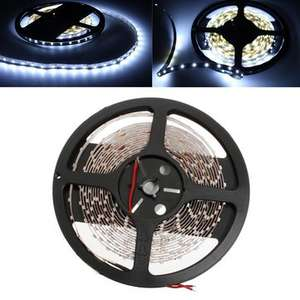 5M Cool White LED Strip Light Non-Waterproof 12V DC 300 LED £1.76 - Banggood