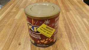 KP dry roasted nuts. Reduced to clear 75p MORRISONS Granton Edinburgh.