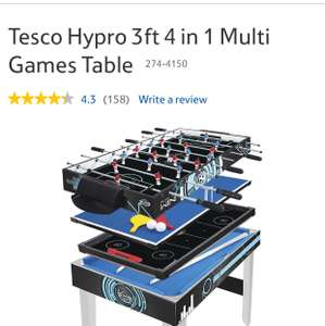 Hydro 3ft 4 in 1 Table Games £30 @ Tesco