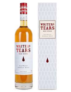 Writers Tears Red Head Single Malt Irish Whiskey. 46% ABV ( Whisky ) £24 / £27.50 delivered @ Marks and spencer