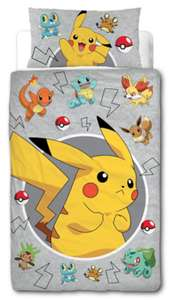Pokemon Reversible Duvet Set - Single for £6.50 @ George (Free C&C)