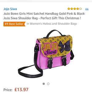 Jojo siwa mini kids satchel £13.97 prime / £17.96 non prime Sold by F & F Stores and Fulfilled by Amazon