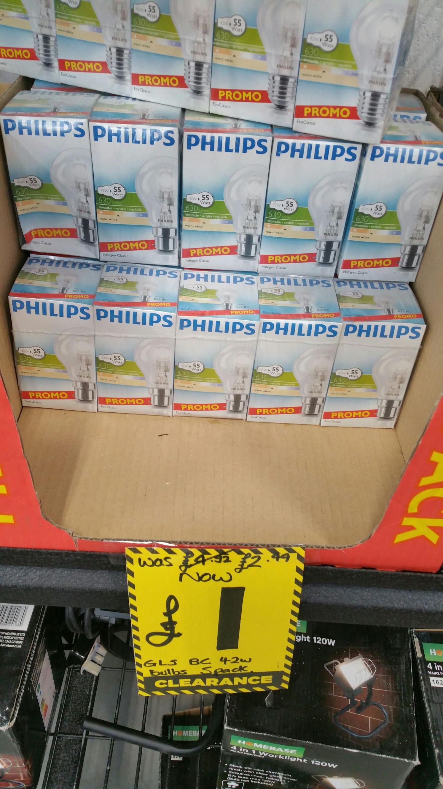 Philips light bulbs 5 pack £1 @ homebase instore - Sandbach