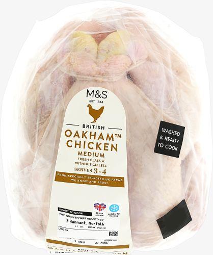Marks and Spencer medium Oakham Chicken half price £2.50 from £5 - instore - Swansea, Fforestffach