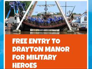 Drayton manor free for all armed forces/veterans and emergency services