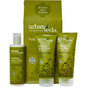 URBAN VEDA  Pack Of Three Purifying Body Ritual Gift Set £ (Free C+C)  TK Maxx