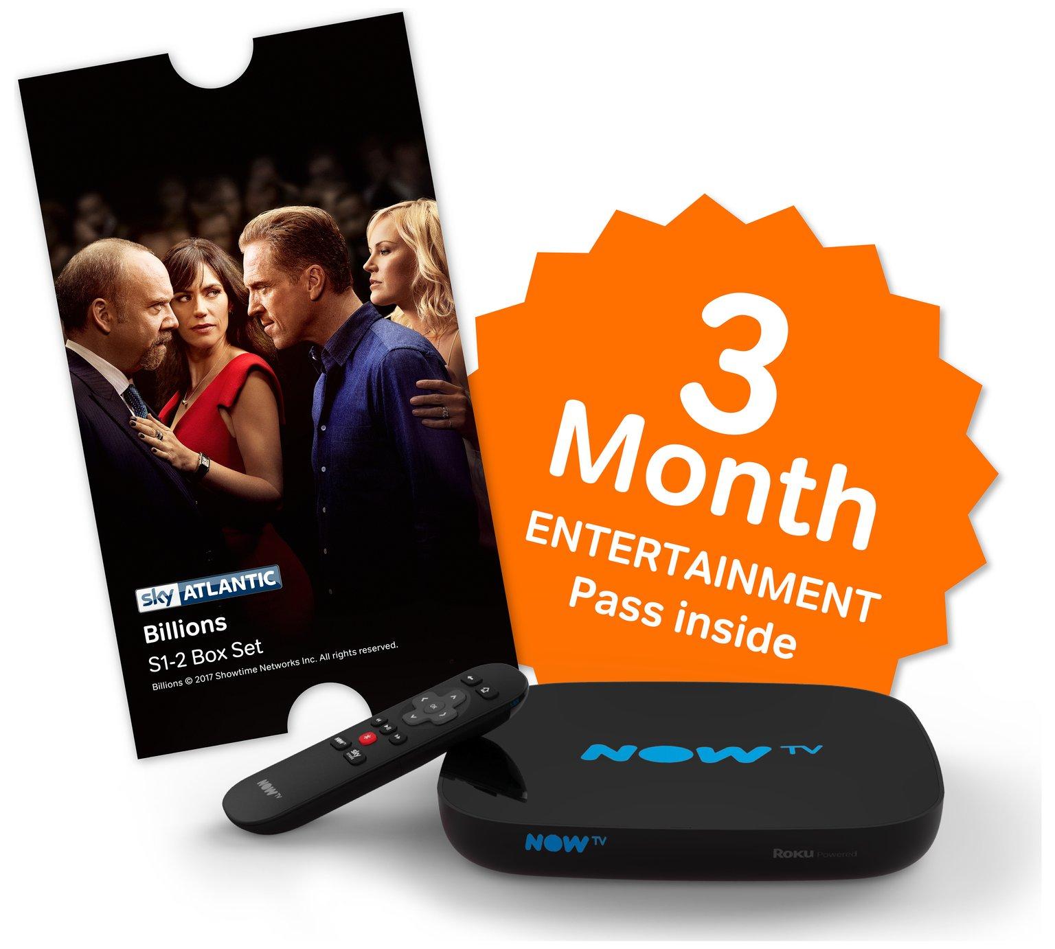 NOW TV New Smart Box + Sky Store Voucher + 3 Month Entertainment Pass £14.50 @ Tesco Direct (also Now TV Box + Sky Cinema 1 month pass + Belle Pop £10)