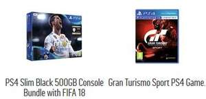 PS4 SLIM (500GB) FIFA 18 BUNDLE + GT SPORT at Argos for £229.99