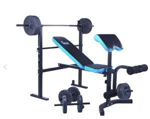 Men's Health Folding Workout Bench with 35kg Weights £99.99 @ argos.