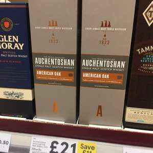 Auchentoshan single American Oak Malt Whisky 70Cl £21 Tesco