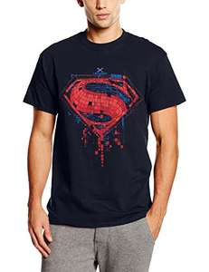 DC Comics Men's Batman V Superman Geo Superman Logo T-Shirt - Medium @ £5.94  (Prime) / £9.93 (non Prime) at Amazon