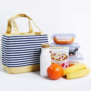 Stripes Lunch Tote with Drawstring, Insulated Lunch Bag £7.86  (Prime) / £11.85 (non Prime) Sold by Lifewit and Fulfilled by Amazon.