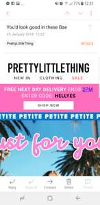Prettylittlething Next day deliver free