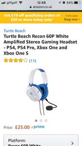 Turtle beach 60P amplified Headset. (PS4) £25 Amazon - Prime Exclusive