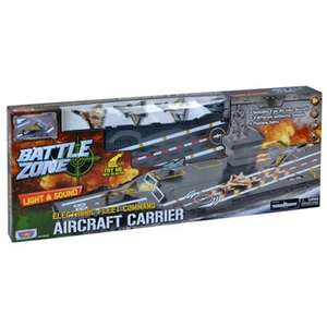 "Battle Zone Electronic Fleet Command Aircraft Carrier (inc 31"" Aircraft Carrier and 4 Diecast Aircraft) now £10.50 Del w/code @ Debenhams"