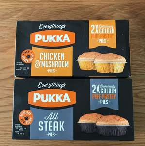 2 pack Pukka pies, 3 packs for £5 @ Farmfoods