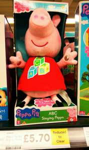 ABC Singing Peppa (was £22.99 now £5.70) and other Peppa Pig reductions in store Tesco