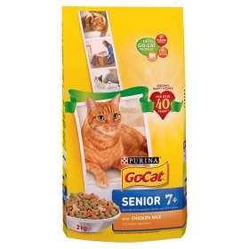 Go Cat Complete Senior with Chicken Rice & Vegetables 2kg £3 @ ASDA