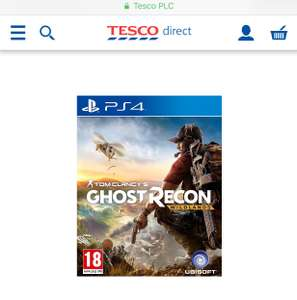 Ghost Recon Wildlands PS4 - £20 @ Tesco Direct