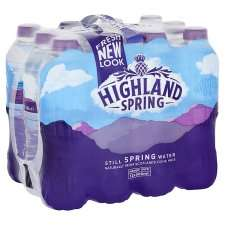 Possible store specific 12x500ml Highland Spring water scanning at £2.00 @ Tesco -  Colney Hatch Lane